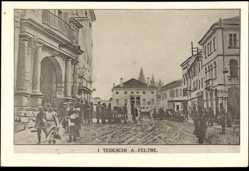 Postcard Feltre Veneto Italien, Entrata dei Tedeschi il 12 Novembre 1917