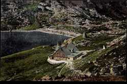Ak Riesengebirge Schlesien, Am kleinen Teich, Kleine Teichbaude