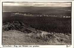 Postcard Reitzenhain Marienberg im Erzgebirge, Stadtteil vom Hirtstein aus gesehen