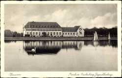 Postcard Hannover in Niedersachsen, Maschsee Hindenburg, Jugendherberge