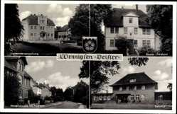 Postcard Wennigsen an der Deister, Kloster Forstamt, Bahnhof, Hauptstraße, Post