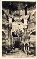 Postcard Split Kroatien, Unutrasnjost Stolne crkve, Inneres der Kirche, Kronleuchter