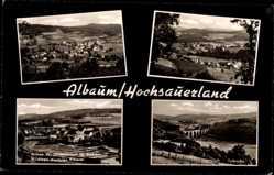 Postcard Albaum Kirchhundem Sauerland, Talbrücke, Anlage d. Landesanst. f. Fischerei