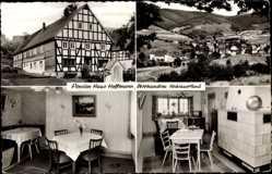 Postcard Oberhundem Kirchhundem Sauerland, Pension Haus Hoffmann, Kachelofen