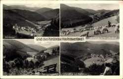 Postcard Nordenau Schmallenberg Hochsauerland, Schafherde im Nesselbachtal