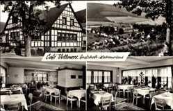 Postcard Grafschaft Schmallenberg im Sauerland, Cafe Vollmers, Innenansicht, Ort
