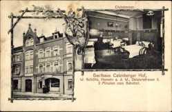 Postcard Hameln in Niedersachsen, Gasthaus Calenberger Hof, W. Schütte, Deisterstr. 5