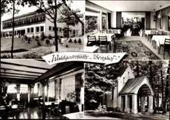 Postcard Wenden Dörnschlade im Sauerland, Waldgaststätte Berghof, Besitzer Sieler