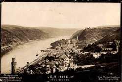 Postcard Oberwesel im Rhein Hunsrück Kreis, Stadt mit Rhein, NPG