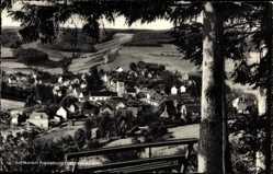Postcard Fredeburg Schmallenberg im Hochsauerland, Gesamtansicht von Bank aus