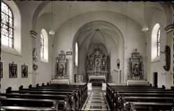 Postcard Nordenau Schmallenberg im Hochsauerland, Inneres der katholischen Kirche