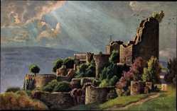 Künstler Ak Bürger, W., Ottrott Elsaß Moselle, Schlossruine Lützelburg