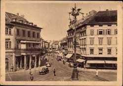 Postcard Mülhausen Haut Rhin, Hermann Göring Platz, Straßenverkehr