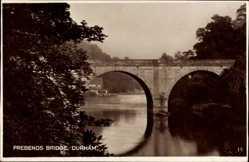 Postcard Durham North East England, Prebends Bridge, Brücke, Flusspartie