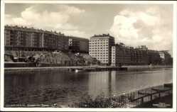Postcard Stockholm Schweden, Kungsholms Strand, Wohnsiedlung