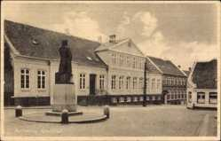 Postcard Rudkobing Dänemark, Apoteket, Apotheke, Denkmal