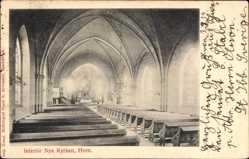 Postcard Hven Schweden, Interiör Nya Kyrkan, Neue Kirche, Innenansicht