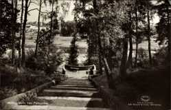 Postcard Mjölby Schweden, Motiv fran Folkparken, Volkspark, Treppe