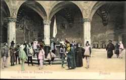Ak Firenze Florenz Toscana, Il Cortile del Palazzo Pretorio