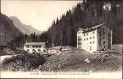 Postcard Chamonix Mont Blanc Haute Savoie, Trélechamps, Hotel du Col des Montets
