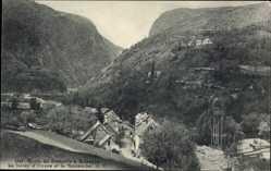 Postcard Isère, Le freney d'Oisans e la Romanche, Route de Grenoble à Briancon