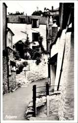 Postcard Polperro South West England, Straßenpartie, Treppe, Bay Tree Cottage