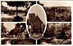 Postcard Dartford South East England, Hesketh Park, Central Park, Holy Trinity Church