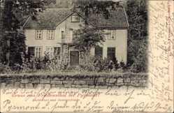 Postcard Bad Pyrmont in Niedersachsen, kleines Haus Friedensthal
