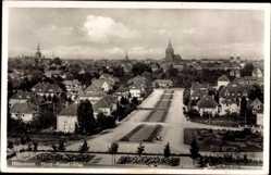 Postcard Hildesheim in Niedersachsen, Blick in die Horst Wessel Allee, Kirche