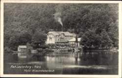 Postcard Bad Lauterberg im Harz, Hotel Wiesenbekerteich am See