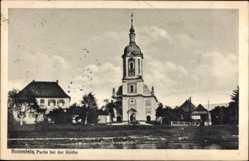 Postcard Bad Rotenfels Gaggenau im Murgtal Kreis Rastatt, Partie an der Kirche