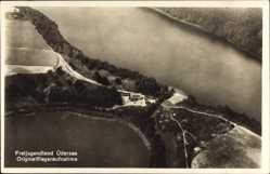 Postcard Üdersee Finowfurt Schorfheide, Fliegeraufnahme von See und Halbinsel