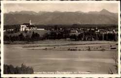 Postcard Schaftlach in Oberbayern, Kloster Reutberg und Sachsenkam mit Kirchsee