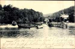 Postcard Hamburg Nord Ohlsdorf, Falkenthal, Gewässer, Boot, Steg, Wald