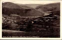 Postcard Rurberg Simmerath, Stadtpanorama von der Kesternicher Höhe, Berge