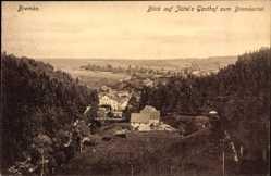 Postcard Bremke Gleichen, Bremkertal, Blick auf Jüttes Gasthof, Stadtansicht, Wald