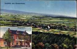 Postcard Sohland an der Spree, Stadtpanorama vom Bismarckstein, Berggasthaus