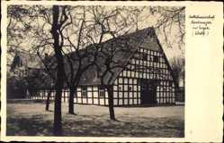 Postcard Enger im Kreis Herford, Sattelmeierhof Nordmeyer, Fachwerkbau