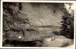 Postcard Tschechien, Freischützenhöhle in der Wolfsschlucht, Freikugeln, Schützensage