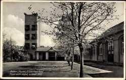Ak Bad Düben an der Mulde Sachsen, Eisenmoorbad, Feuerwehrdepot, erbaut 1933