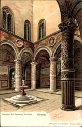 Künstler Litho Panerai, Gino, Firenze Toscana, Palazzo Vecchio