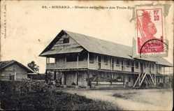 Postcard Sindara Gabun, Mission catholique des Trois Epis