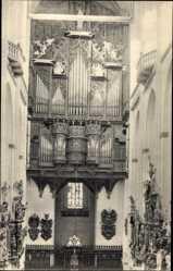 Postcard Lübeck in Schleswig Holstein, Marienkirche, Inneres, Blick auf die Orgel