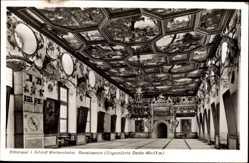 Postcard Weikersheim Main Tauber Kreis, Schloss, Renaissance, ungestützte Decke