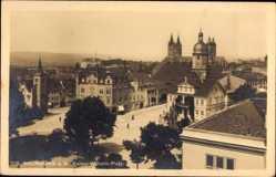 Postcard Naumburg an der Saale Burgenlandkreis, Kaiser Wilhelm Platz, Dom