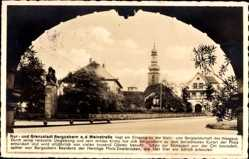 Postcard Bad Bergzabern im Kreis Südliche Weinstraße, Kirchturm, Denkmal, Straße