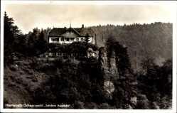 Postcard Bad Herrenalb im Schwarzwald, Restaurant Schöne Aussicht, L. Waidner