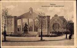 Postcard Aachen in Nordrhein Westfalen, Hauptbahnhof mit Kriegerdenkmal