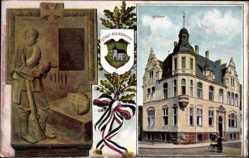 Wappen Ak Rheindahlen Mönchengladbach im Ruhrgebiet, Rathaus, Denkmal