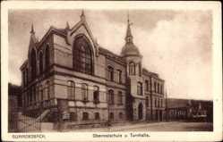 Postcard Gummersbach im Oberbergischen Kreis, Oberrealschule und Turnhalle